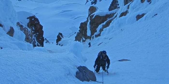 Climbing Reid Headwall Mt. Hood