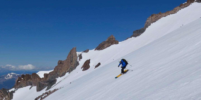 Glacier Skiing- Long Row